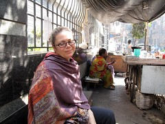 Helene at Manick's Stand - Kolkata, India