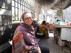 Helene at Manick's Stand - Kolkata, India