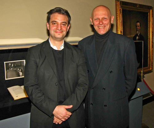 Multimedia Artist Pablo Helguera (left) and American Section Keeper William Wierzbowski