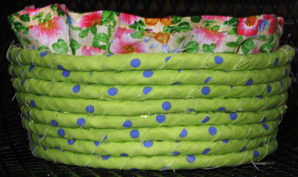 Lime Green Basket + Liner