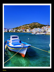 Korthi Andros island in Greece (MarsFree) Tags: travel blue light sea summer sun greek boat traditional hellas greece andros flickraward korthi