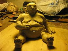 Fat Man (In Progress) (Rodalli) Tags: sculpture art technology modeling fat clay fatman humanfigure