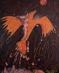 Free Spirit (Lauren Espaa) Tags: bird art phoenix flame pheonix