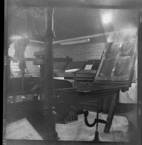 Historic Printing Press, Tubac Presidio State Park, Tubac, Arizona