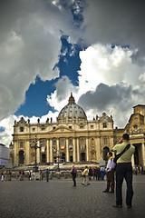 (Matteo Settegrana) Tags: sky people rome roma clouds square nikon nuvole persone cielo piazza sanpietroroma cieloromano matteosettegrana