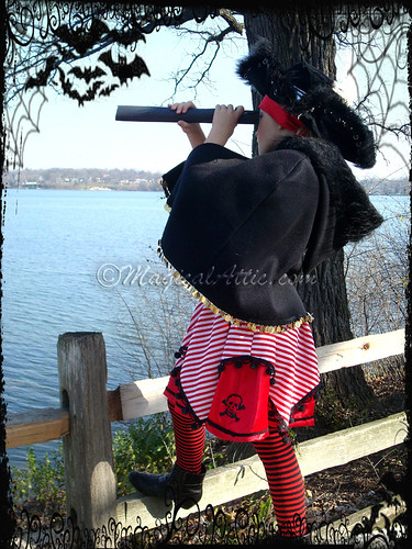 Custom Boutique Halloween Pirate Girl Costume Set