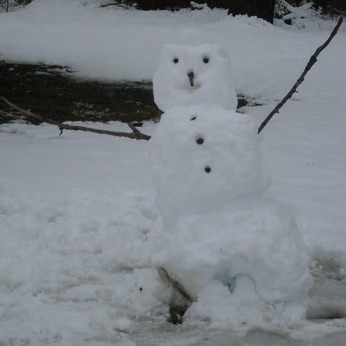 Snowman at Troth Abion Park, Garland, Texas