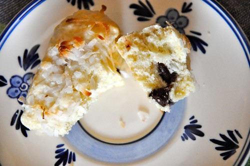 Coconut-chocolate scone