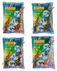 Bolsas Hama Beads Midi 3.000 piezas