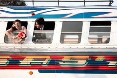 Patricia & Brian (anita gt) Tags: bus groom bride couple pareja boda weddings 28135mm novia camioneta novio chickenbuslikeforeignerscallthemp