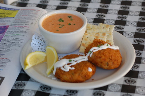 Salmon Cakes and Tomato Soup from Fuel Cafe, Memphis, Tenn.
