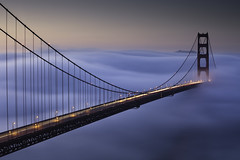 Foggy Sunrise At The Golden Gate Bridge - Day 3 (maxxsmart) Tags: sanfrancisco california longexposure bridge winter color fog sunrise traffic explore goldengatebridge lee bayarea marincounty february frontpage marinheadlands batteryspencer touristspot 2010 trifecta ef70200f4l lateforwork crazybeautiful oddcomposition canon5dmarkii 9ndgrad notthatlongofalongexposure