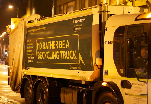 Recycling truck! by Tom Raftery, on Flickr