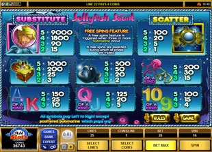 free Jellyfish Jaunt slot mini symbol