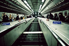 (morgan.laforge) Tags: london stairs underground escalators oxfordcircus