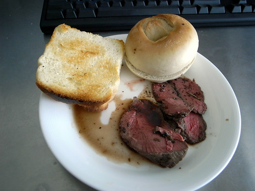 肉と食パンとベーグルと