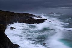 Fro y tormenta (Fran Nieto) Tags: espaa costa mar paisaje galicia nocturna esp acantilado ferrol acorua lobadiz