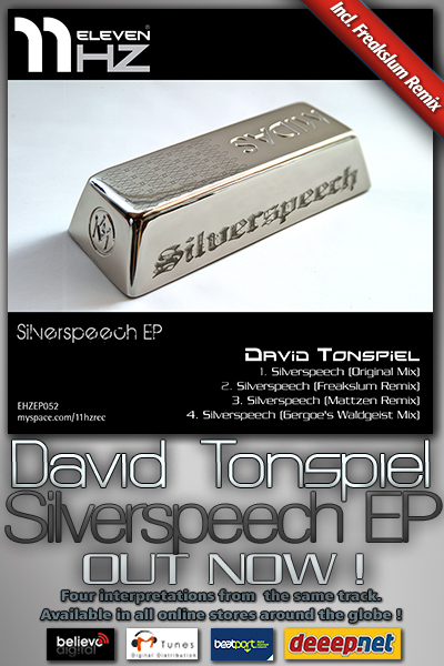EHZEP052 - David Tonspiel - Silverspeech EP - 11Hz Recordings