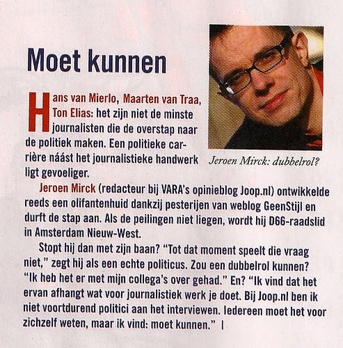 Jeroen Mirck in HP/De Tijd