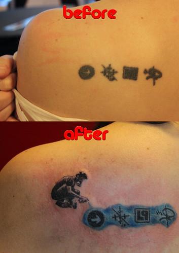 Linkin Park tattoo retouch by Mirek vel Stotker