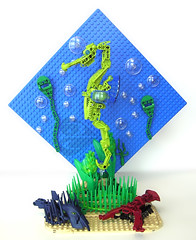 Under the Sea (the BCth) Tags: ocean fish plant seaweed art water grass sand marine seahorse underwater lego mosaic scene kelp lobster crayfish creatures bionicle vignette diorama stonefish scorpionfish moc angler