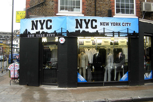 New York City clothes shop, Spitalfields, London