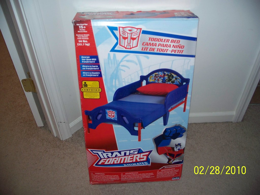 Transformers Animated Toddler Bed.