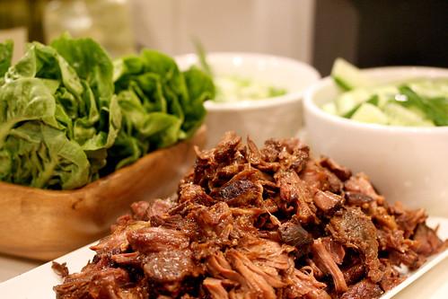 Beefy lettuce wraps
