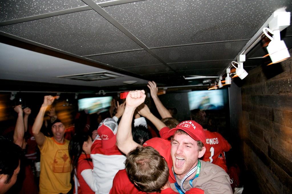 Celebration After Crosby Scores Winner