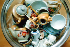 (abbytrysagain) Tags: film collection moms vintageteasets triphomefeb2010