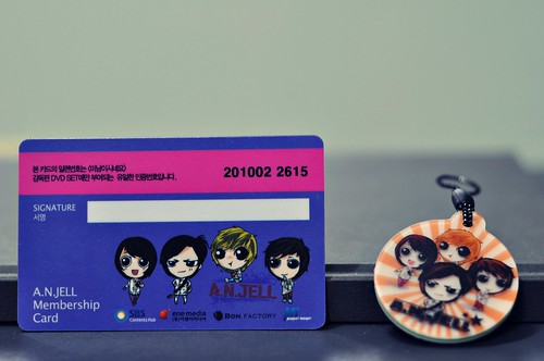 A.N.JELL Membership Card and Phone Strap