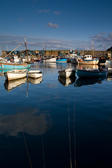 Mevagissey Harbour (Andy Stafford) Tags: blue reflection water boats fishing cornwall harbour rope mevagissey