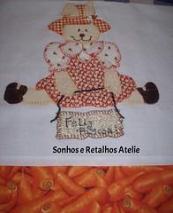Páscoa !! PANO DE COPA (*Sonhos e Retalhos Ateliê*) Tags: páscoa colagem patchwork decoração bordado costura cenoura coelha patchcolagem panodeprato