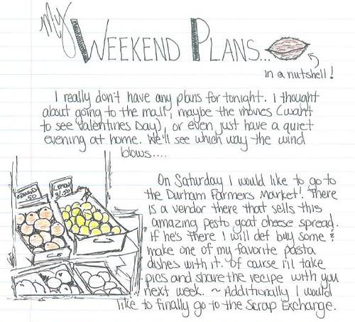 weekend plans 3.4