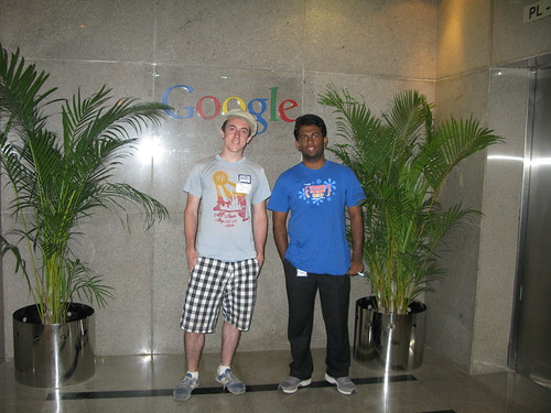 Photo of John and Robin at Google Bangalore