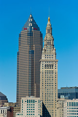 Cleveland Towers... (tbower) Tags: city ohio skyline architecture skyscraper geotagged nikon downtown raw nef clevelandohio cs4 keytower towercitycenter d3s nikongp1 nikkor70200f28vrii