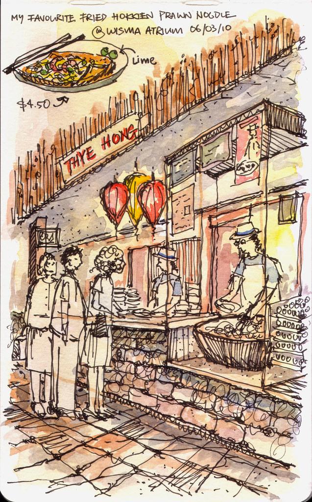 Thye Hong fried hokkien prawn noodle @ Wisma, Singapore