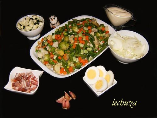 Gratinado de verduras-ingredientes