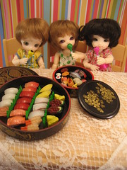Lollies and Sushi for everyone!