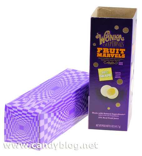 Wonka Fruit Marvels - White Grape Packaging