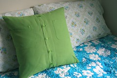 quilted pillow back