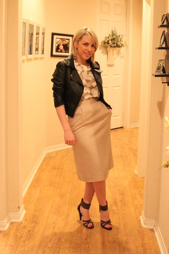 khaki and leather