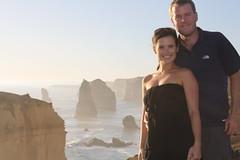 Laura and Ryan enjoy breathtaking views in front of the Twelve Apostles on the Great Ocean Road in southern Australia. (LRLTK) Tags: australia greatoceanroad 12apostles gor
