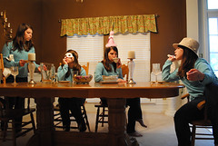 Getting Rid of the Guests (Rora Elisabeth) Tags: girl dinner photoshop 365 dinnerparty