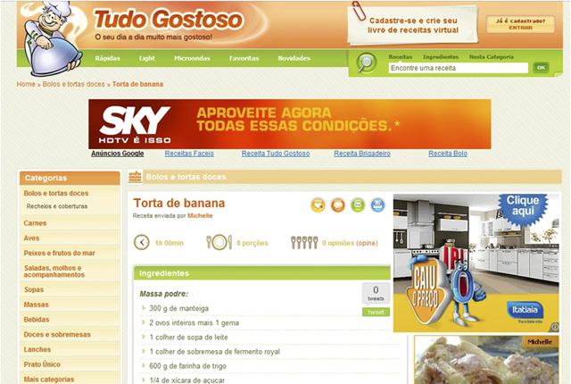 Banner do site TudoGostoso.com.br