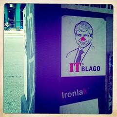 (theres no way home) Tags: chicago art graffiti sticker paint artist near australian vinyl photograph aerosol damen app yob iphone chicagoavenue blagojevich ironlak itsblago hipstamatic
