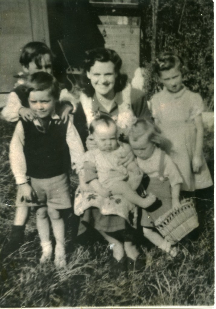 Mrs Clark and Family, Baltic Street,1955.