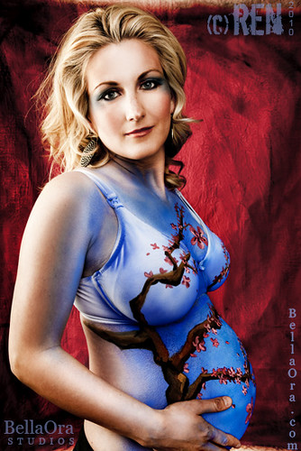 photo design of body painting