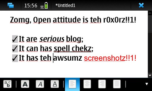 AbiWord on Maemo