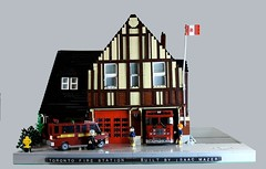 Stationoverview (Ricecracker.) Tags: rescue house toronto ontario canada station truck fire lego fig district chief engine mini service van department 134 pumper moc foitsop minifigscale